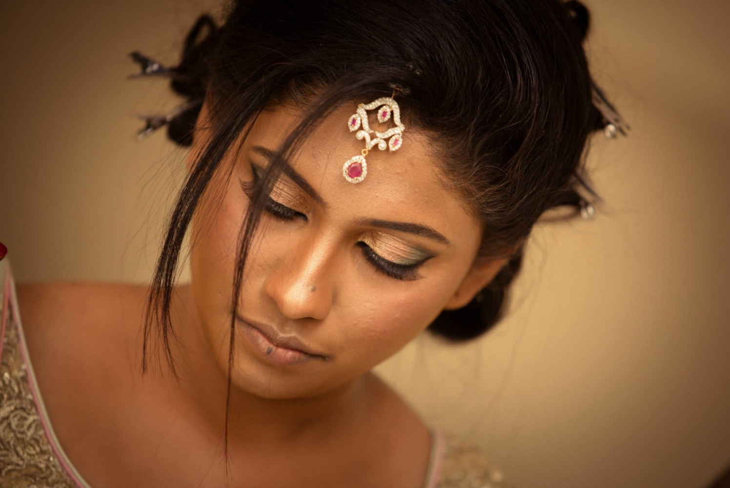 Bride Sporting the Smokey Eye Look by Bosco Naveen Bridal-makeup | Weddings Photos & Ideas