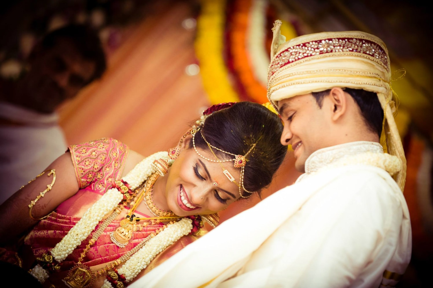 South Indian Bride and Groom Wearing Traditional Accessories by Bosco Naveen Wedding-photography | Weddings Photos & Ideas
