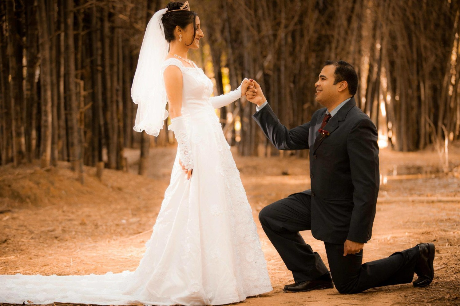 Christian Bride and Groom Wearing Traditional Western Wear by Bosco Naveen Wedding-photography | Weddings Photos & Ideas