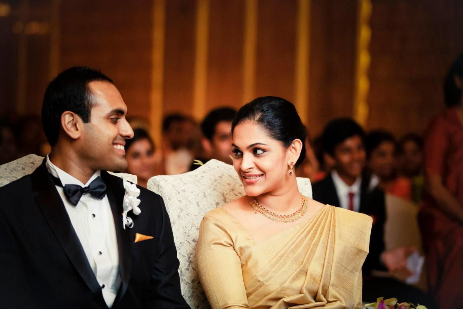 Christian Bride and Groom Wearing Elegant Traditional Wear by Bosco Naveen Wedding-photography | Weddings Photos & Ideas