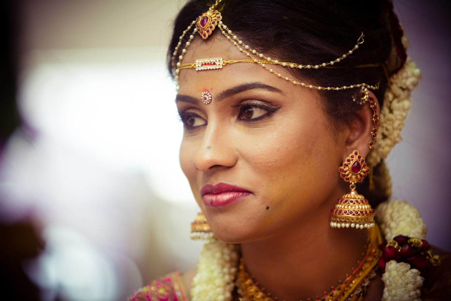South Indian Bride Wearing Traditional Gold Jewelry by Bosco Naveen Bridal-makeup Bridal-jewellery-and-accessories | Weddings Photos & Ideas