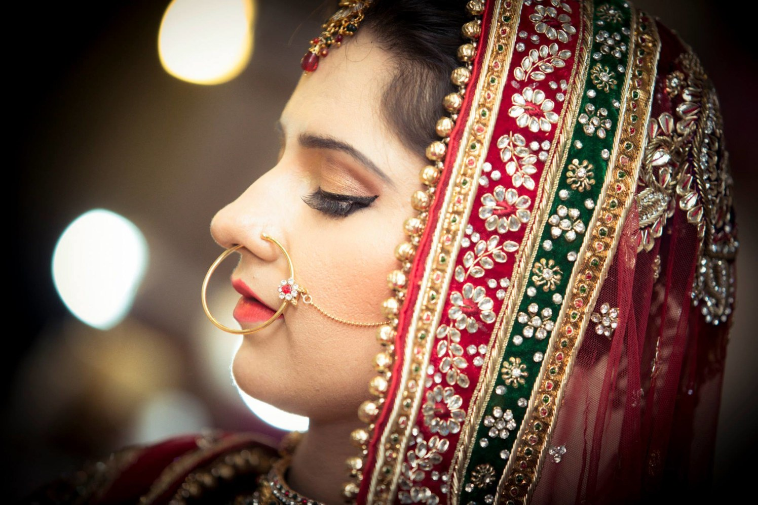 Bride Wearing Bold Makeup by Bosco Naveen Bridal-makeup | Weddings Photos & Ideas