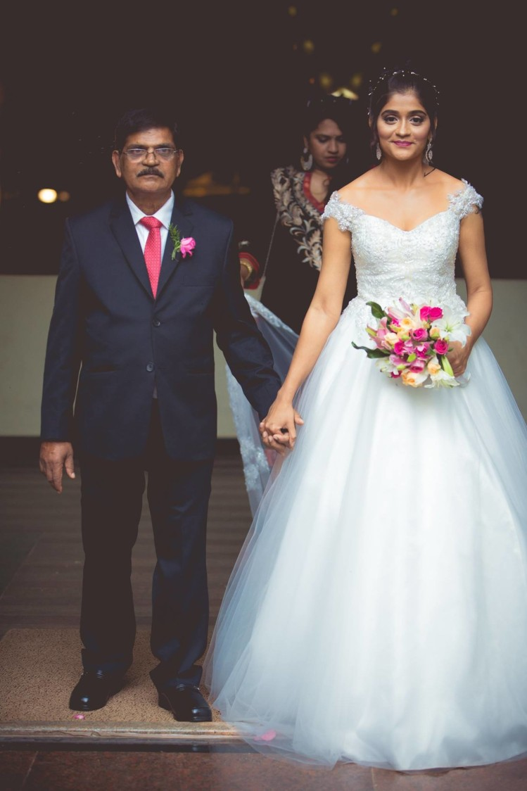 Christian Bride With Her Father by Bosco Naveen Wedding-photography Wedding-dresses | Weddings Photos & Ideas