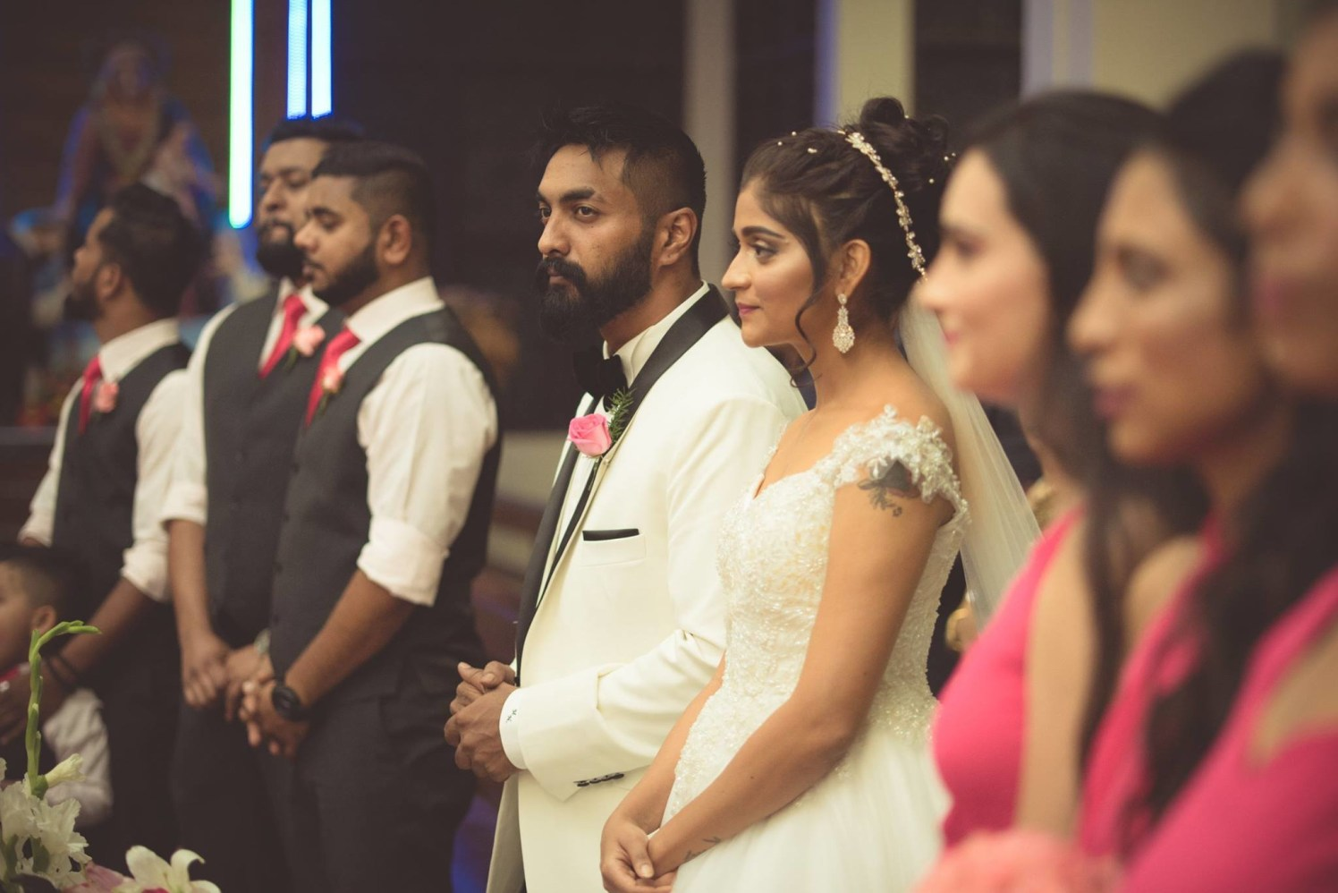Bride and Groom Taking Vows by Bosco Naveen Wedding-photography | Weddings Photos & Ideas