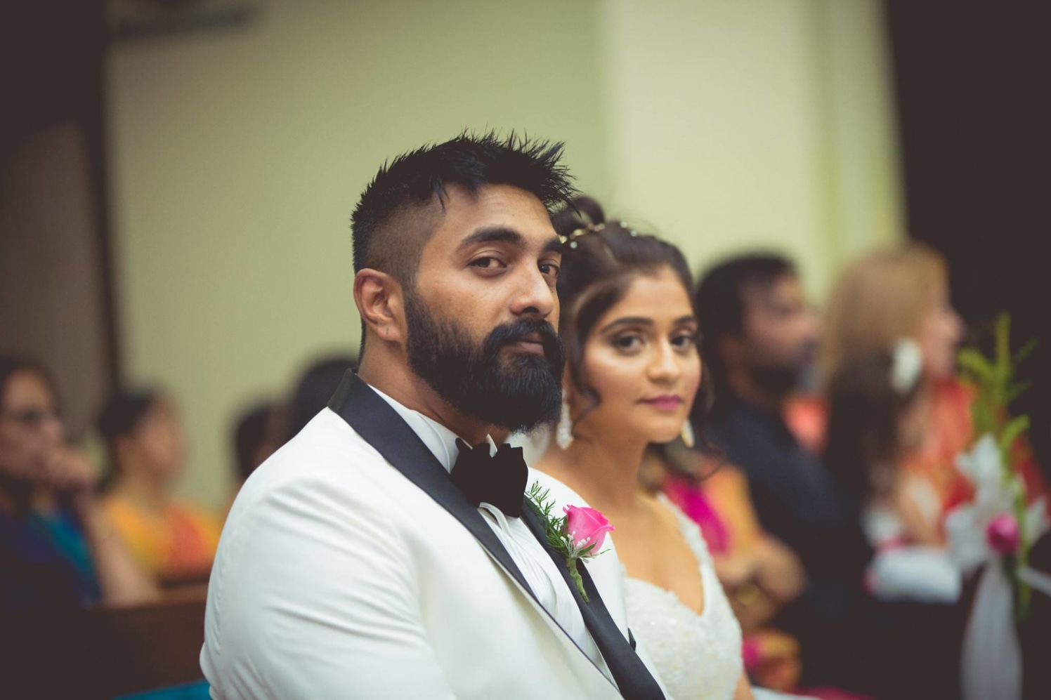 Groom Wearing Black and White Suit by Bosco Naveen Wedding-photography | Weddings Photos & Ideas