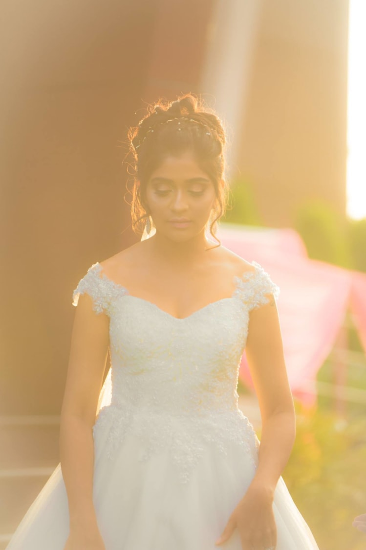 Bride Wearing Beautiful Off Shoulder Gown by Bosco Naveen Wedding-photography | Weddings Photos & Ideas