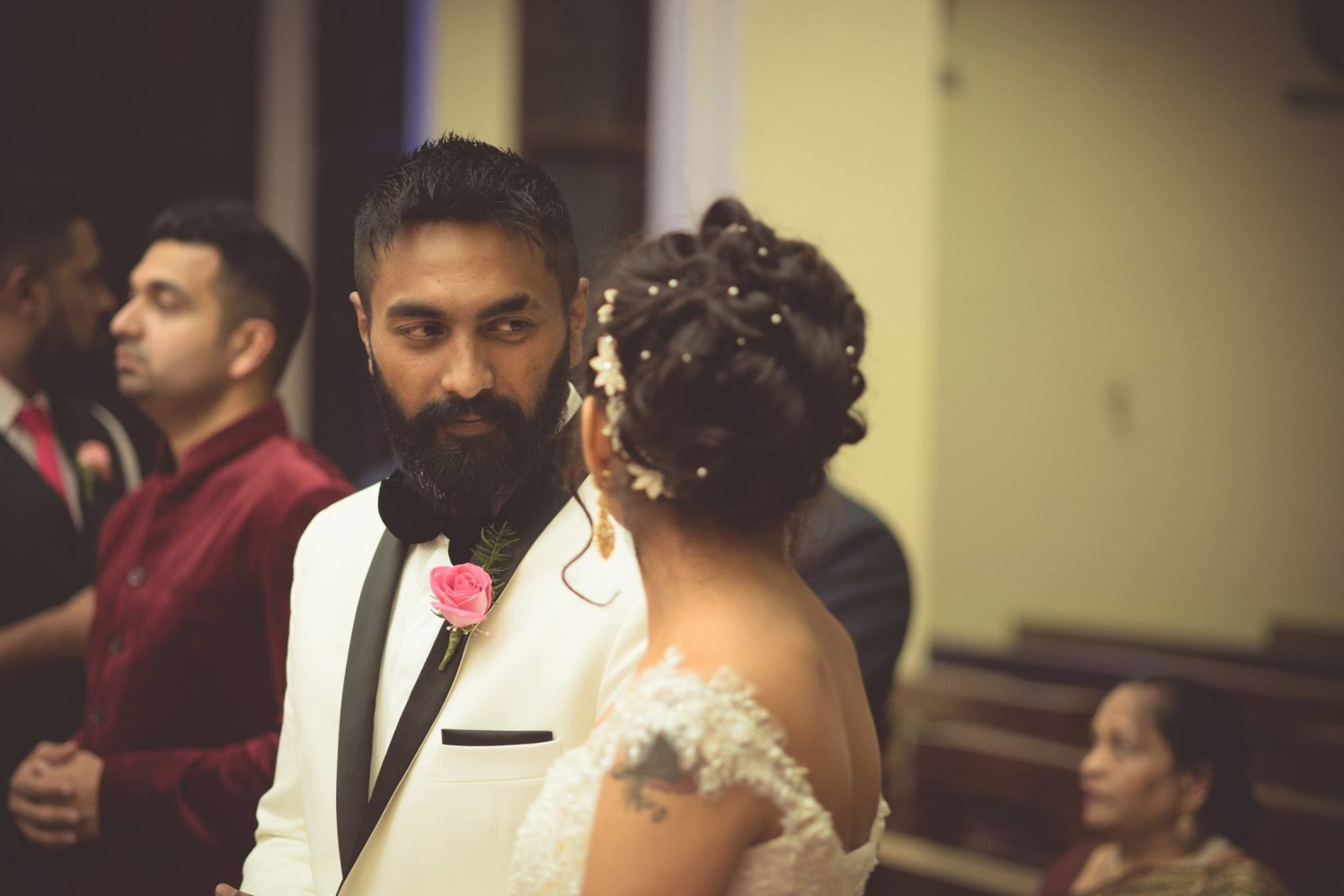 Bride and Groom Caught in a Candid Moment by Bosco Naveen Wedding-photography | Weddings Photos & Ideas