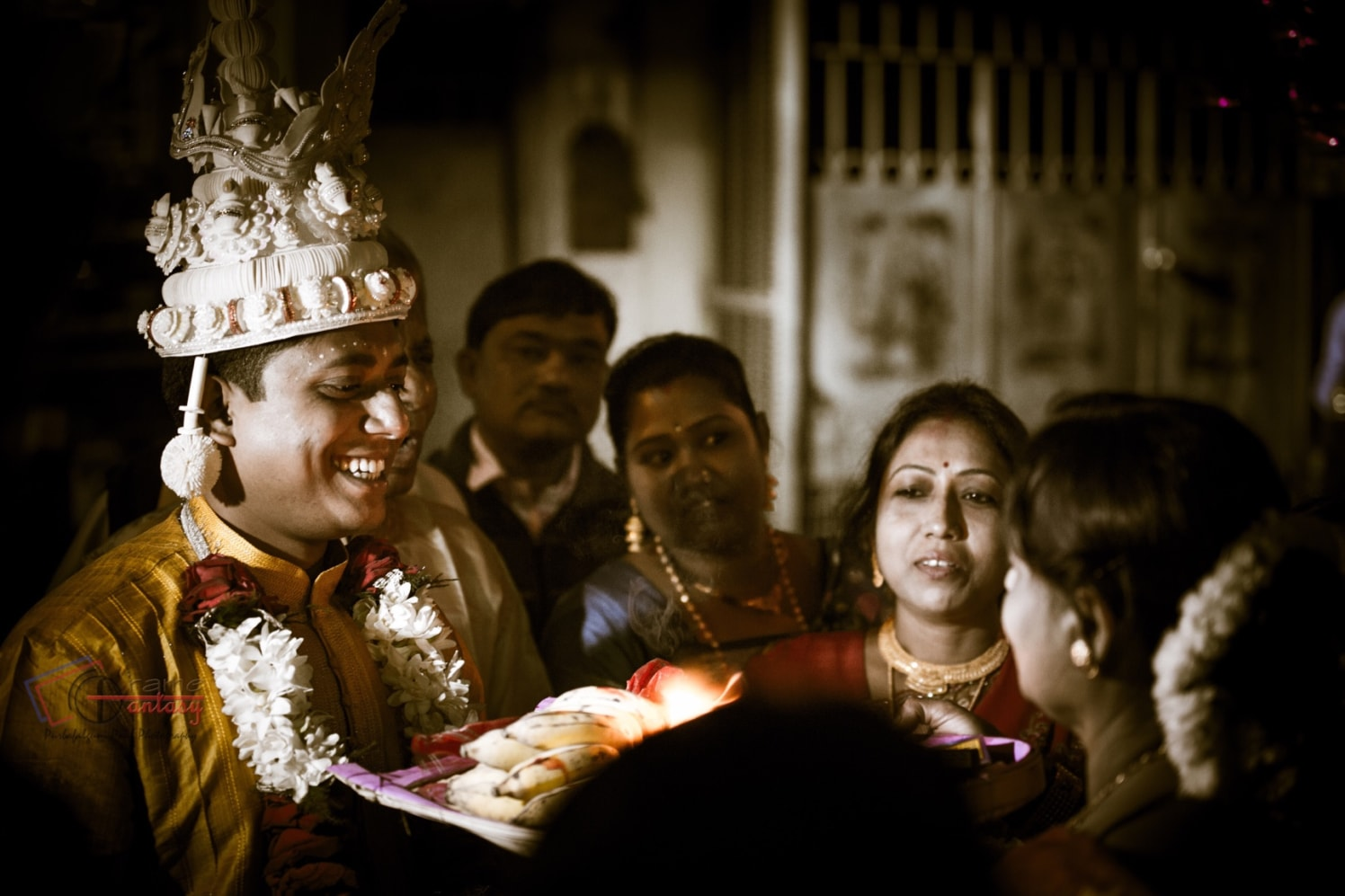 Candid groom shot during his wedding ceremony by Frame Fantasy Wedding-photography | Weddings Photos & Ideas