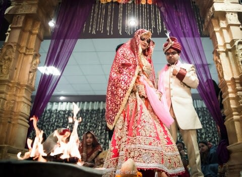 Bride and groom during their wedding ceremony by Cele-brat Wedding-photography | Weddings Photos & Ideas