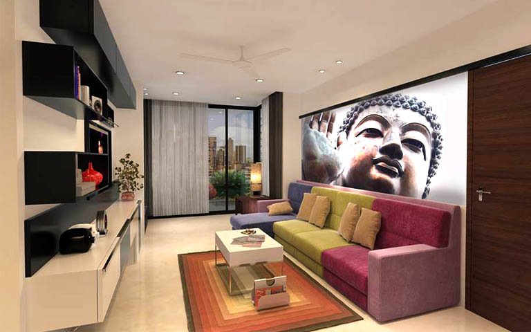 Contemporary living room decor by CP ARCHITESIGN Living-room Contemporary | Interior Design Photos & Ideas