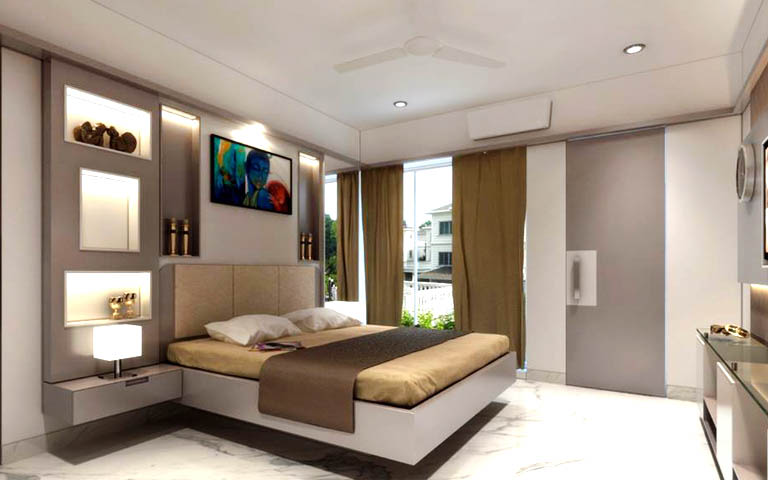 Luxurious master bedroom decor by CP ARCHITESIGN Bedroom Modern | Interior Design Photos & Ideas