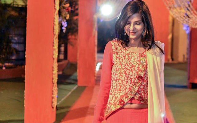 Stawberry Pink Elegant Suit With Peach Dupatta by Ankit Poddar Wedding-photography | Weddings Photos & Ideas