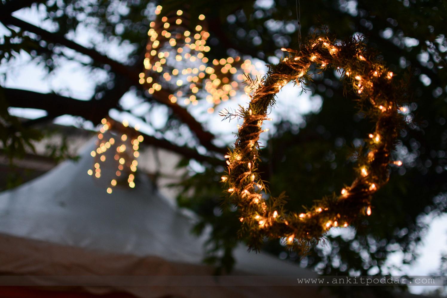Fairy Light Wreath Decor by Ankit Poddar Wedding-photography | Weddings Photos & Ideas