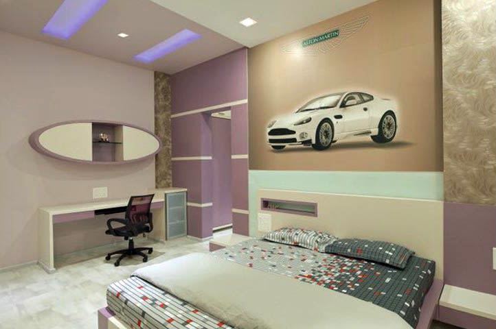 Bedroom With Box Bed And Study Table by Ar.Nitin j Kshirsagar Bedroom Contemporary | Interior Design Photos & Ideas