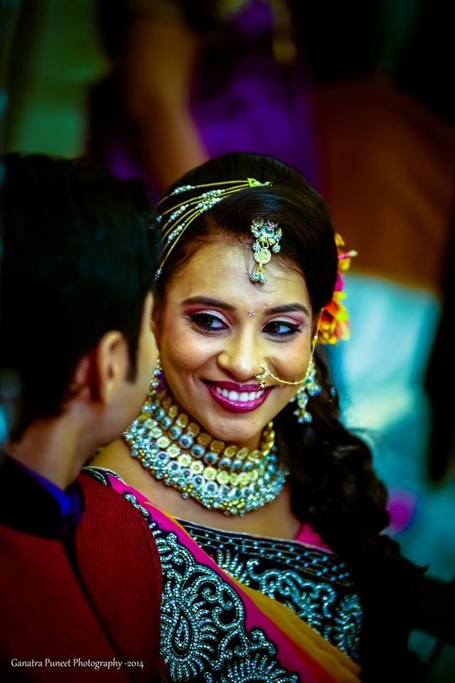 Beautiful Bride-To-Be! by Puneet Ganatra Wedding-photography Bridal-jewellery-and-accessories Bridal-makeup | Weddings Photos & Ideas