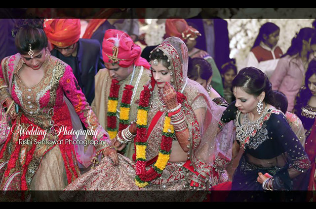 Bride And Groom On Wedding Day! by Rishi Sehrawat Wedding-photography | Weddings Photos & Ideas