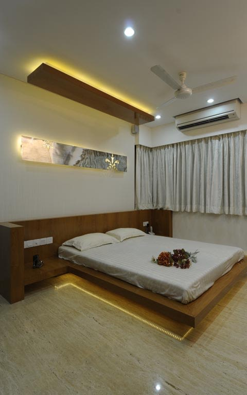 Contemporary bedroom decor by ARCHITECT KAUSHAL CHOUHAN Bedroom | Interior Design Photos & Ideas