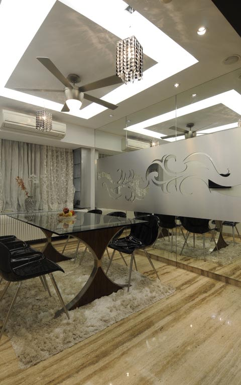 Plush modern cellular style office decor by ARCHITECT KAUSHAL CHOUHAN | Interior Design Photos & Ideas