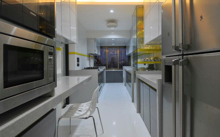 Modern closed modular kitchen by ARCHITECT KAUSHAL CHOUHAN Modular-kitchen | Interior Design Photos & Ideas