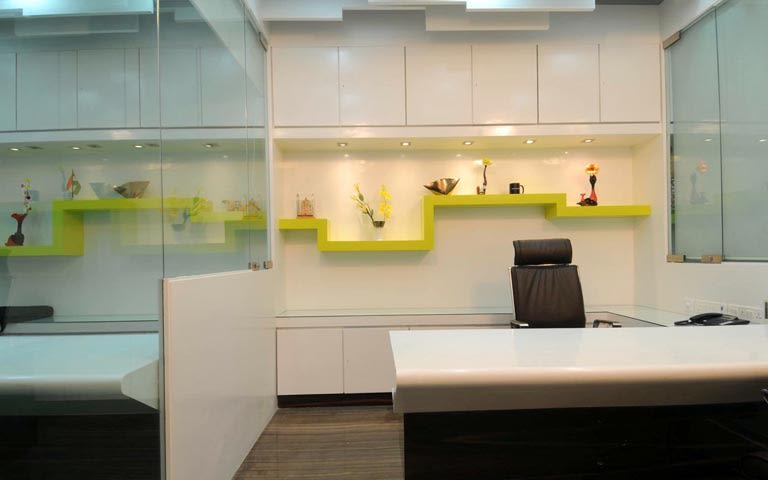 Modern cellular style office decor by ARCHITECT KAUSHAL CHOUHAN | Interior Design Photos & Ideas