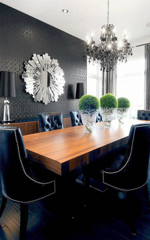 Modern leather finish dining room decor by ANTARANGNI INTERIOR P LTD Dining-room | Interior Design Photos & Ideas