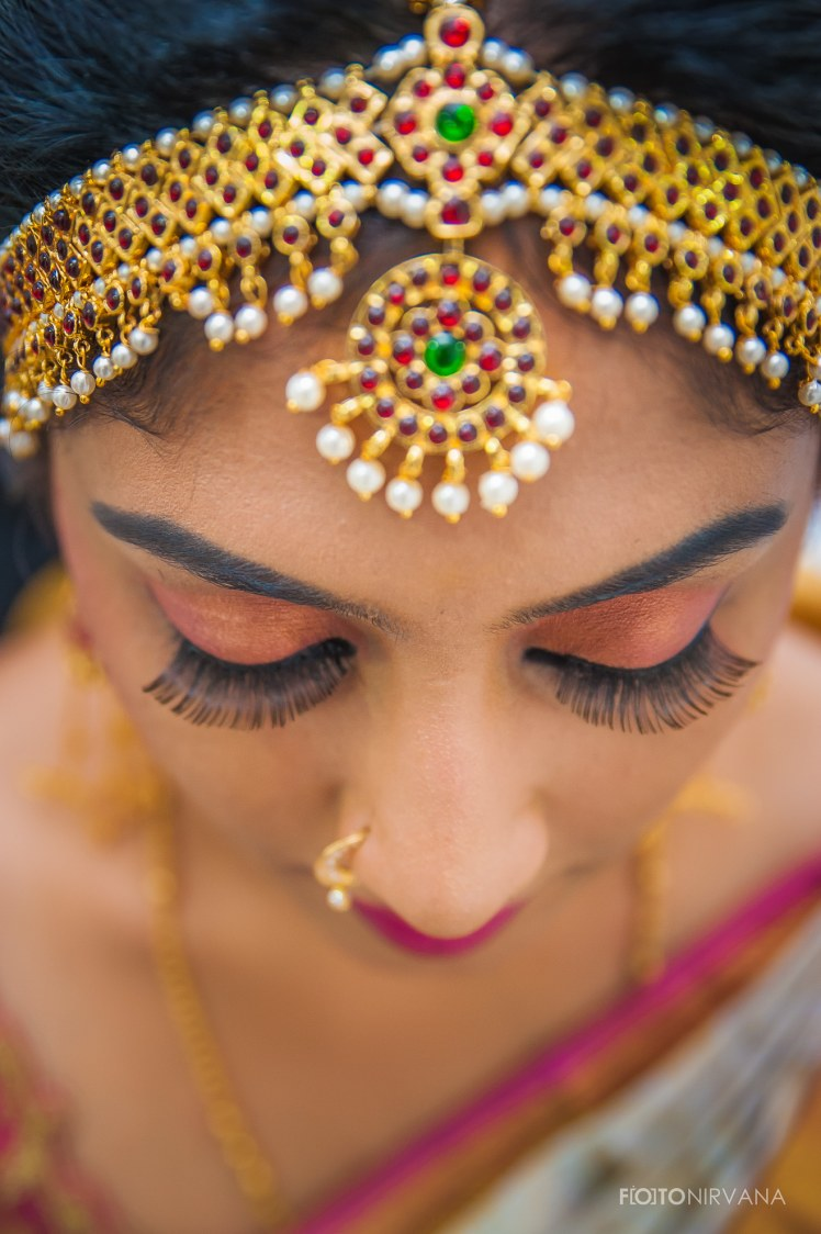 Golden Matha Patti With Gemstones And Peal! by FOTONIRVANA Bridal-makeup Bridal-jewellery-and-accessories | Weddings Photos & Ideas