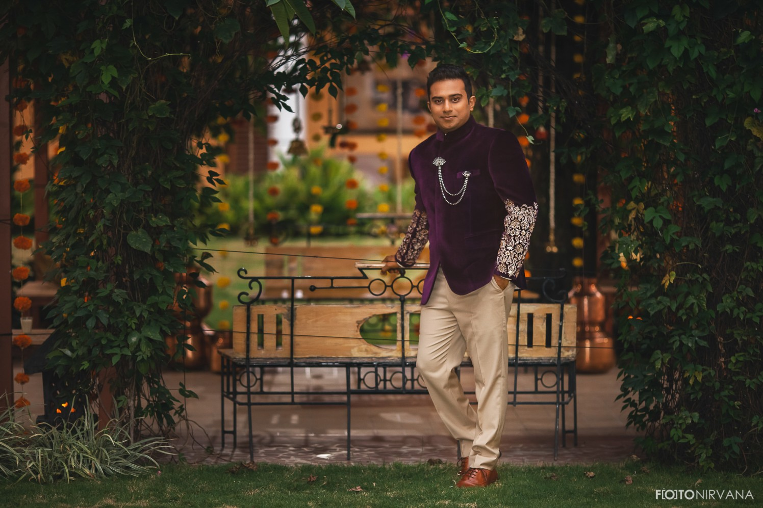 Handsome Groom Wearing Indo Western Outfit  ! by FOTONIRVANA Wedding-photography Groom-wear-and-accessories | Weddings Photos & Ideas