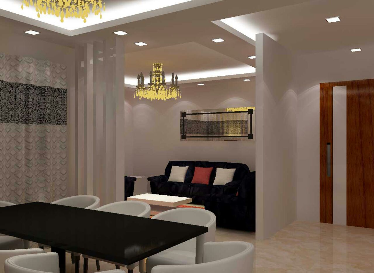 Majestic living room decor by Raunaq Designs