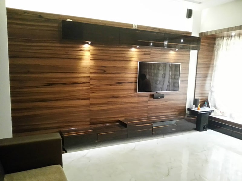 Minimalistic modern TV cabinet design by Amitus EPC Projects Pvt Ltd Living-room | Interior Design Photos & Ideas