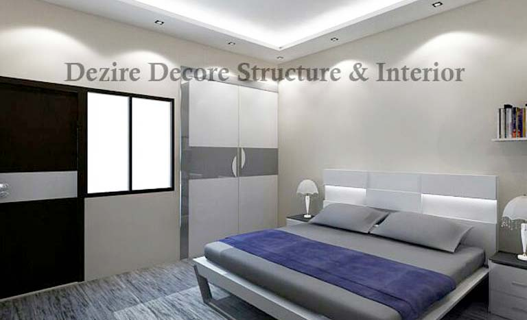 A beautiful grey-themed bedroom! by Dezire modular kitchen & Interiors Bedroom | Interior Design Photos & Ideas