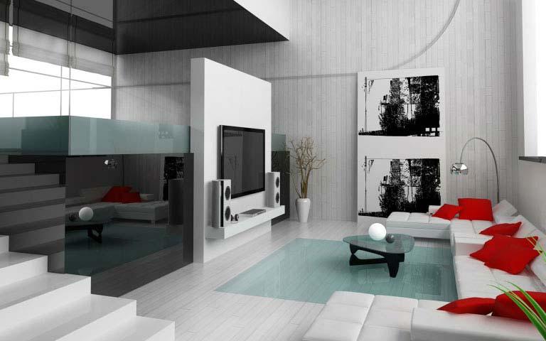 A Contemporary Living Room! by Dezire modular kitchen & Interiors Living-room | Interior Design Photos & Ideas
