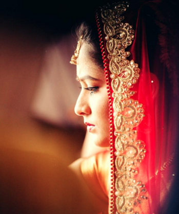 Pretty bride portrait by Wedding Clickz Wedding-photography | Weddings Photos & Ideas