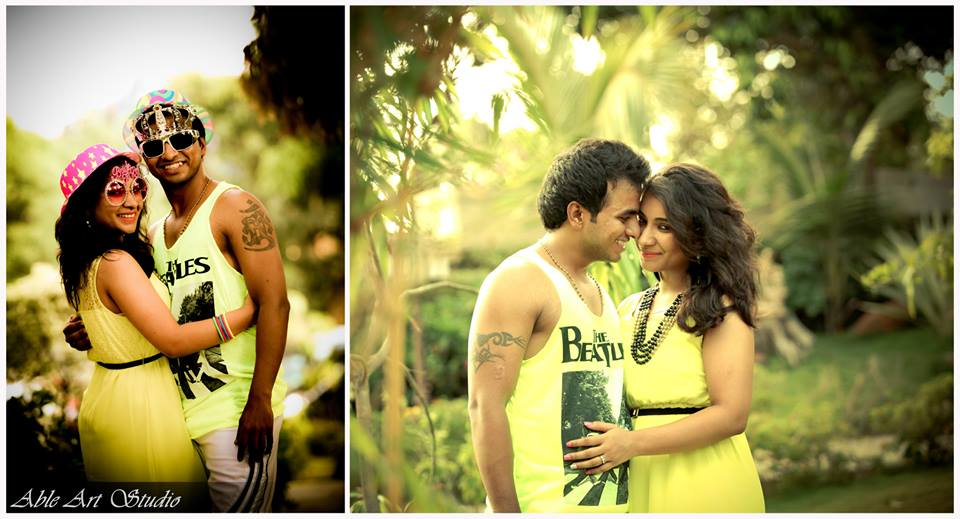 Pair in yellow by Able Art Digital Studio Wedding-photography | Weddings Photos & Ideas