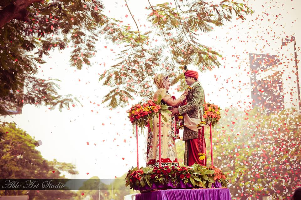 Bride groom on a podium by Able Art Digital Studio Wedding-photography | Weddings Photos & Ideas