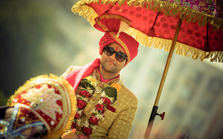 Handsome Groom Shadowed Under The Royal Umbrella by Viral Shah  Wedding-photography | Weddings Photos & Ideas