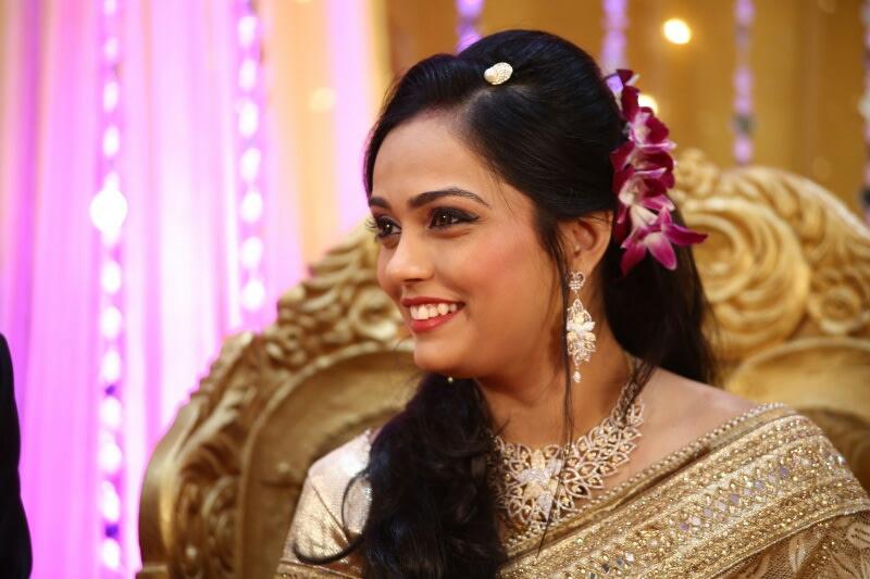 Open Hair Half Orchid Bun Bride by Viral Shah  Wedding-photography   Weddings Photos & Ideas