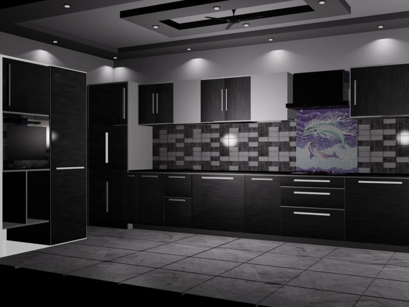 Beautiful design for modern kitchen by VS interiors Modular-kitchen   Interior Design Photos & Ideas