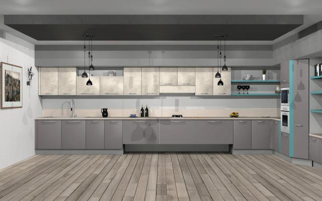 Brilliant design for open and spacious kitchen by VS interiors Modular-kitchen | Interior Design Photos & Ideas