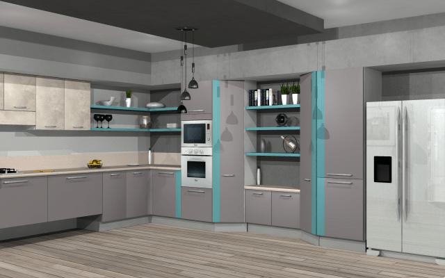 Silvergrey touch in beautiful modern kitchen by VS interiors Modular-kitchen | Interior Design Photos & Ideas