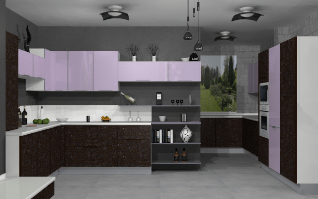 3D design of open modern kitchen by VS interiors Modular-kitchen | Interior Design Photos & Ideas