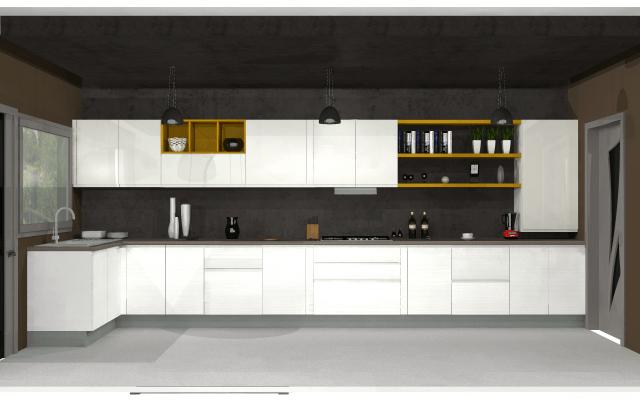 3D design for gorgeous kitchen by VS interiors Modular-kitchen | Interior Design Photos & Ideas