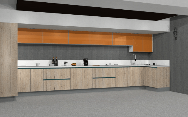3D design for modern kitchen by VS interiors