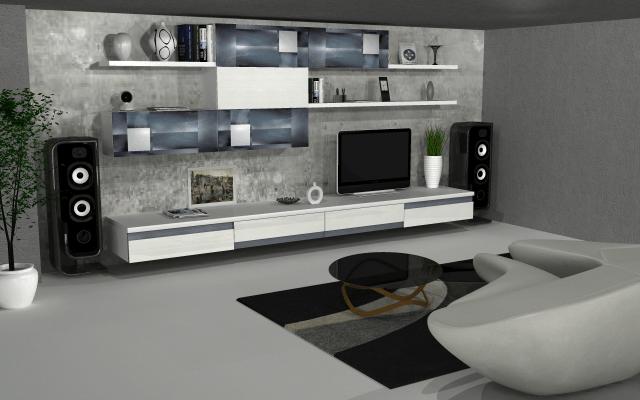 Magnificent design for contemporary living room by VS interiors Living-room | Interior Design Photos & Ideas