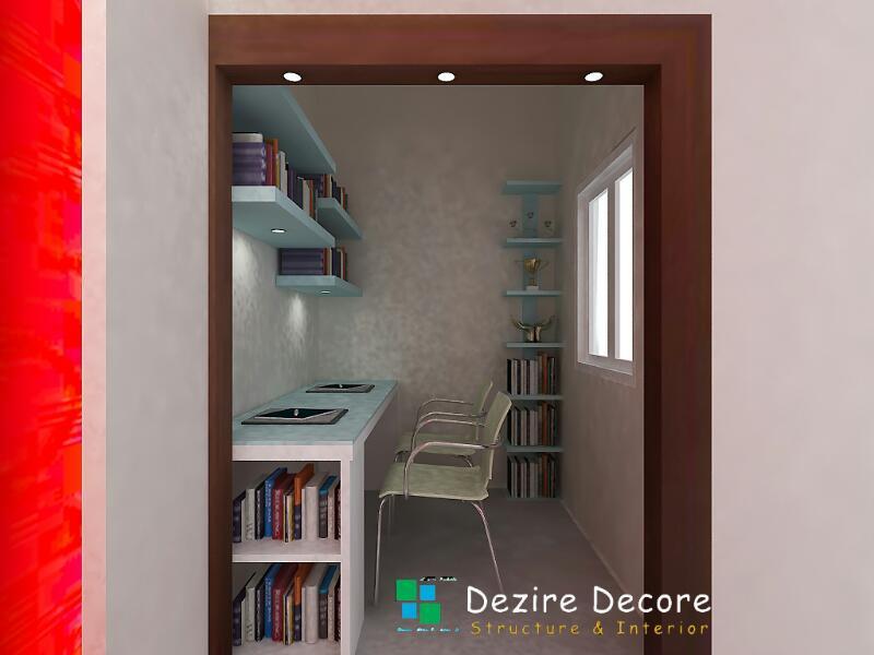 Study room decor idea by Dezire Decore Interior & Structure Indoor-spaces Modern | Interior Design Photos & Ideas