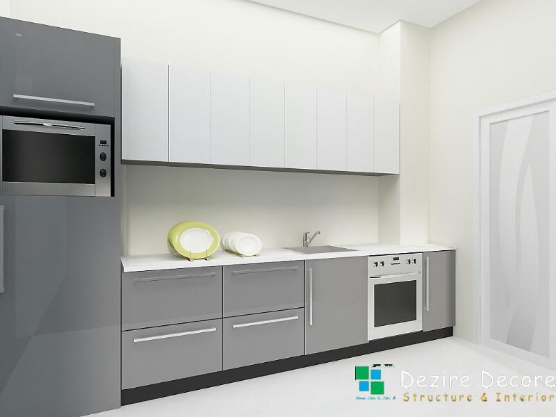 Sleek modular kitchen by Dezire Decore Interior & Structure Modular-kitchen Modern | Interior Design Photos & Ideas
