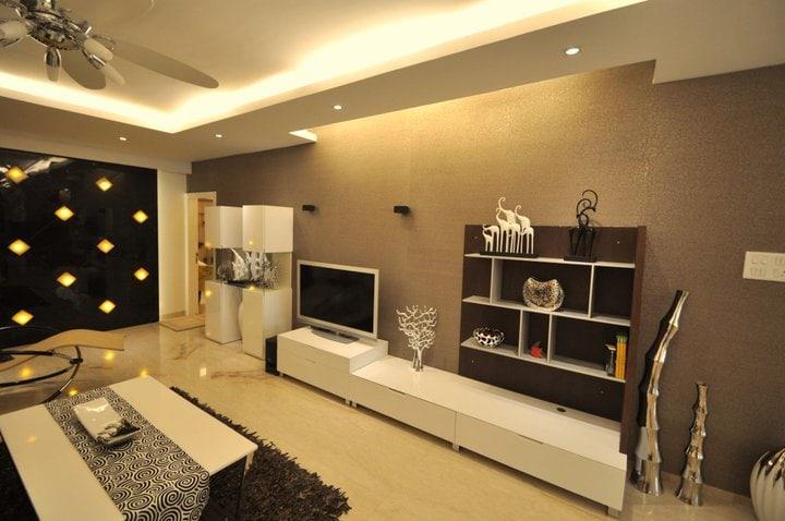 A Spacious Modern Living Room by Decor Dreams Living-room | Interior Design Photos & Ideas