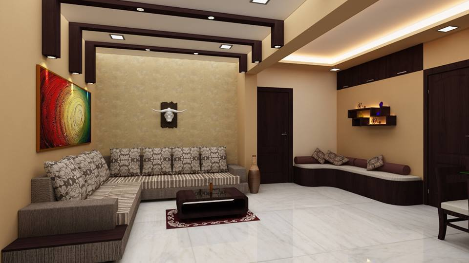 L-Shaped Sofa In Living Room With A Centre Table by Megha Jain Living-room Modern   Interior Design Photos & Ideas