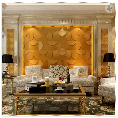 Lawson Style Sofa With Yellow Wallpaper by Megha Jain Living-room Contemporary | Interior Design Photos & Ideas