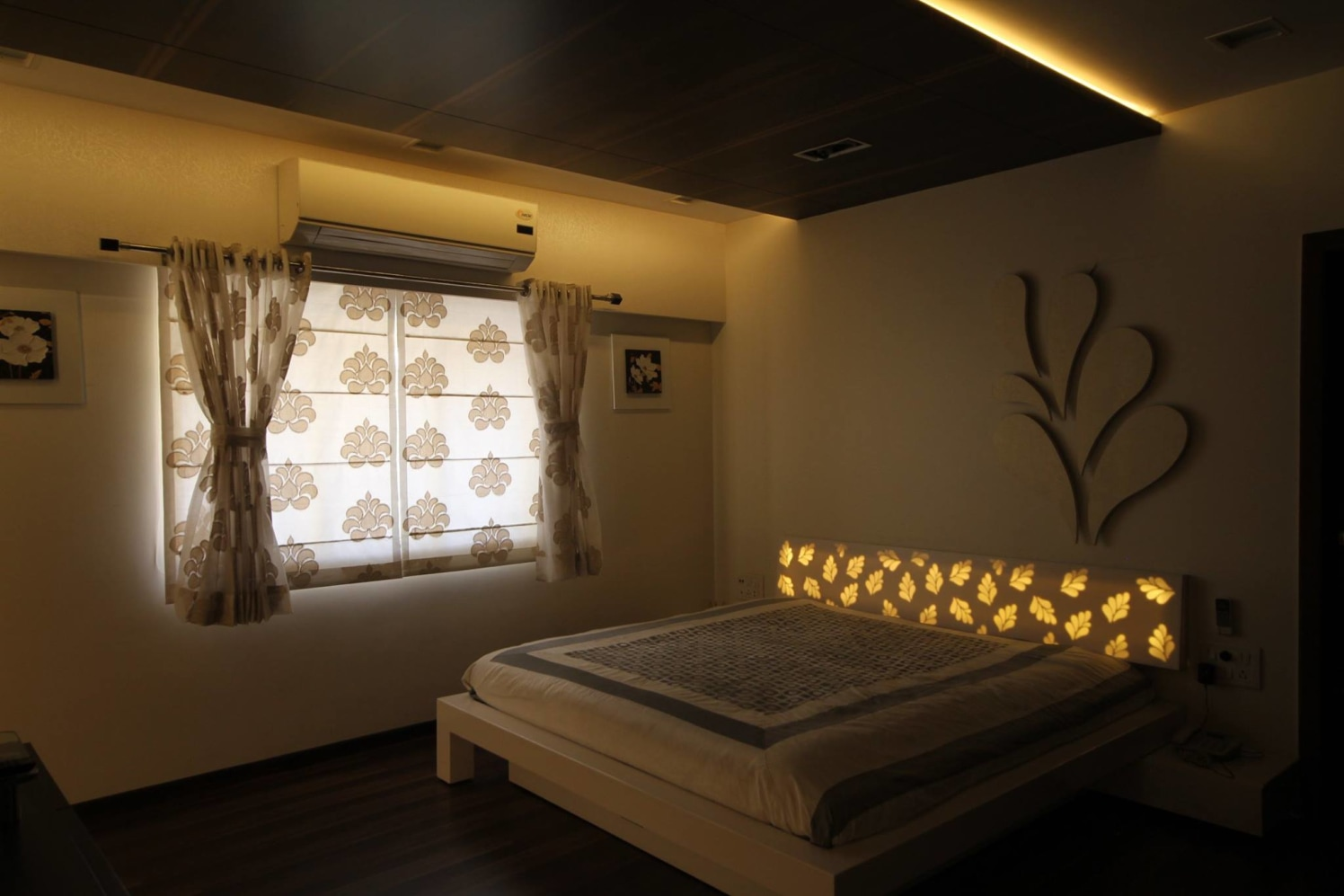 Starry lights master bedroom theme decor by Ankur Tulsyan  Bedroom Contemporary | Interior Design Photos & Ideas
