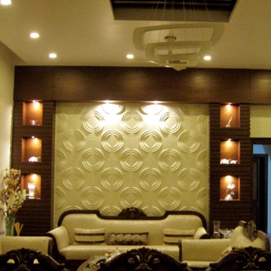 Regal living room decor by Bhoomi Ink Architects Living-room Modern | Interior Design Photos & Ideas